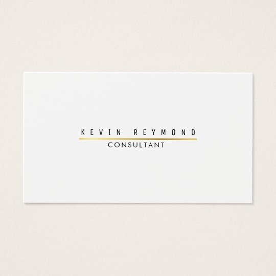 minimal information on elegant white professional business card