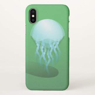 Minimal Jellyfish | Isometric Vector Art iPhone X Case