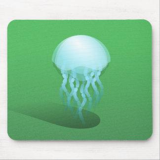 Minimal Jellyfish | Isometric Vector Art Mouse Mat