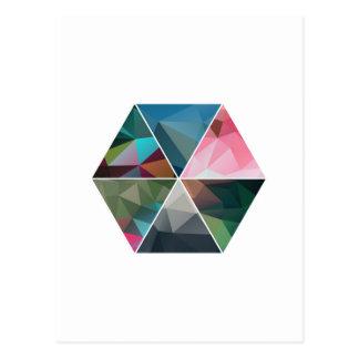 Minimal Low-Poly Hexagon Postcard