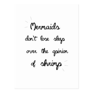 Minimal Mermaid Quote Postcard