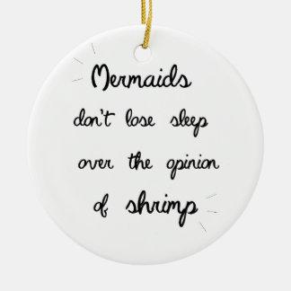 Minimal Mermaid Quote Round Ceramic Decoration