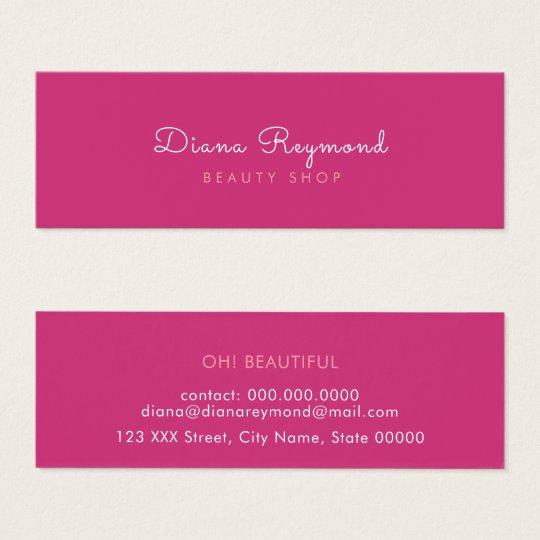minimal modern, elegant plain beauty pink feminine mini