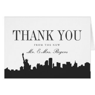 Minimal New York Wedding Thank You Card