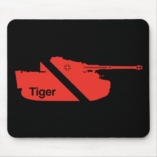 Minimal Panzerkampfwagen VI, red - black Mousepad