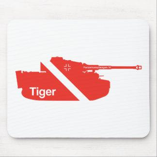 Minimal Panzerkampfwagen VI, red Mouse Mat