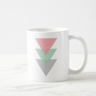Minimal Pastel Colored Trio Of Triangles Coffee Mug