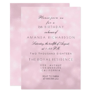 Minimal Pastel Pink Rose Lilac Birthday Party 11 Cm X 16 Cm Invitation Card