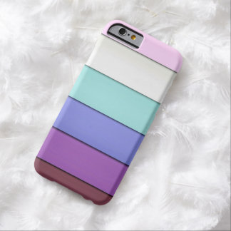 Minimal Pastel Stripes Pattern Barely There iPhone 6 Case