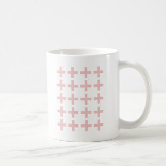 Minimal Pink Geometric Crosses Coffee Mug
