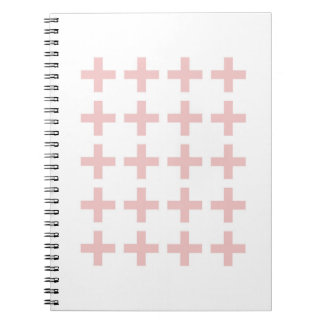 Minimal Pink Geometric Crosses Notebooks