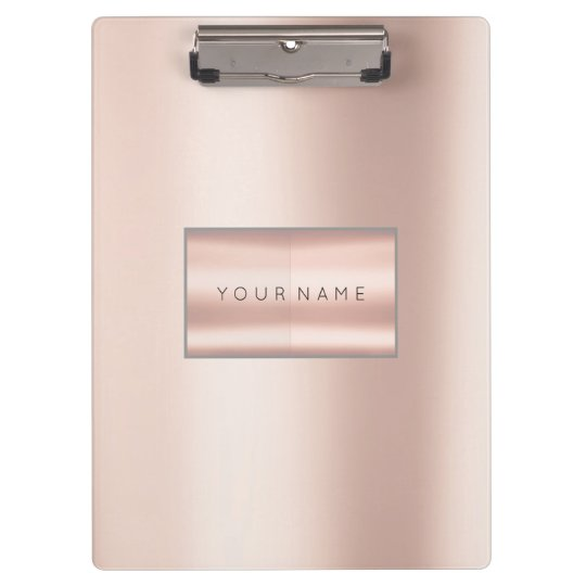 Minimal Pink Rose Gold Metallic Pearly Blush Clipboard