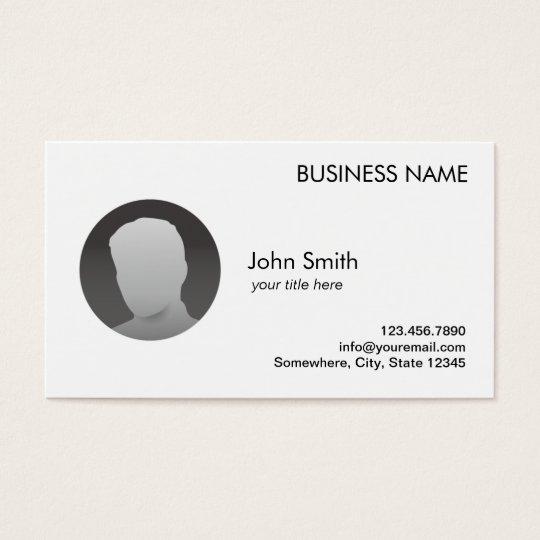 Minimal Plain Custom Photo Agent Broker Business Card