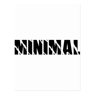 minimal post card