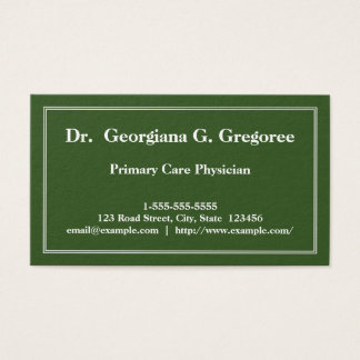 Minimal Primary Care Physician Business Card