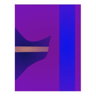 Minimal Purple Space Postcards