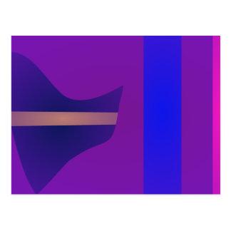 Minimal Purple Space Post Card