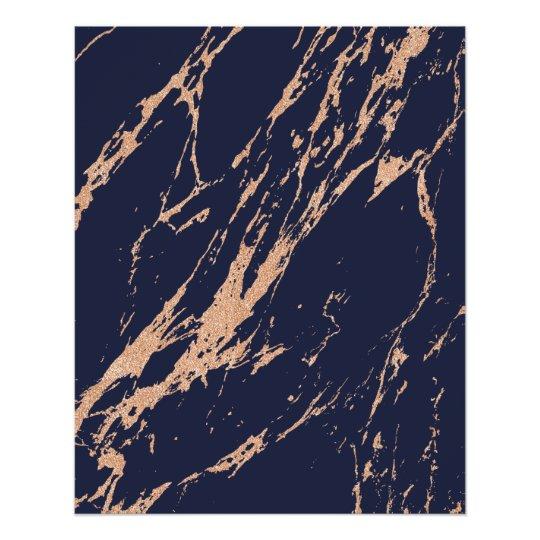 Minimal Rose Gold Blush Blue Navy Abstract Strokes