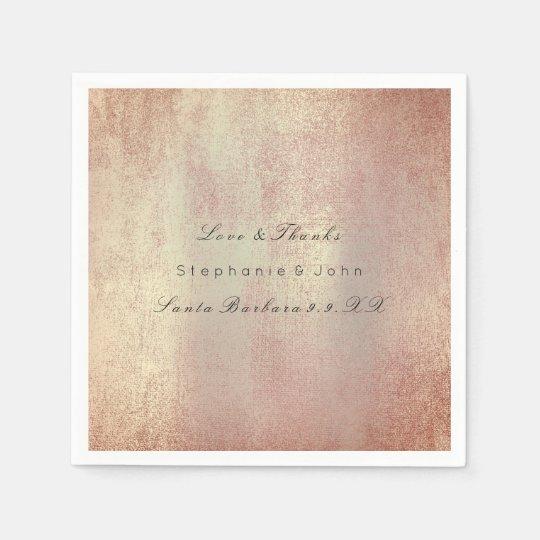 Minimal Rose Gold Blush Copper Skin Custom Name