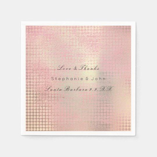 Minimal Rose Gold Blush Pink Metallic Custom Name