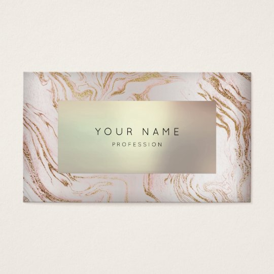 Minimal Rose Gold Marble Appointment Pearly 3D VIP