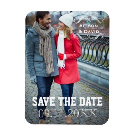 Minimal Save the Date simple wedding photo Rectangular
