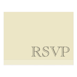 Minimal Simple Basic Neutral RSVP Postcard
