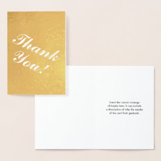 "Minimal, Simple, & Basic ""Thank You!"" Card"