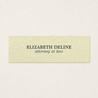 Minimal Simple Elegant Texture Attorney Mini Business Card