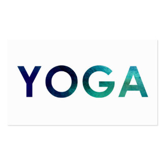 Minimal & Simple Water Color Yoga Business Cards