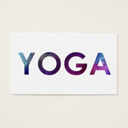 Minimal & Simple Water Colour Yoga Business Cards