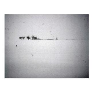 Minimal Snow Postcard