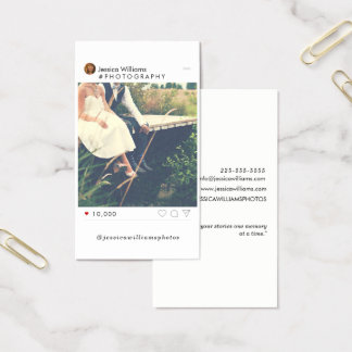 Minimal Social Media Photography Business Cards