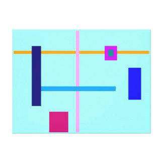 Minimal Straight Lines Canvas Print
