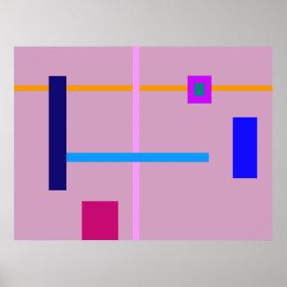 Minimal Straight Lines Poster