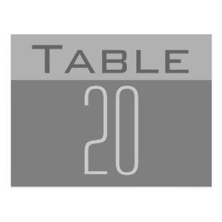 Minimal Table Number Postcard