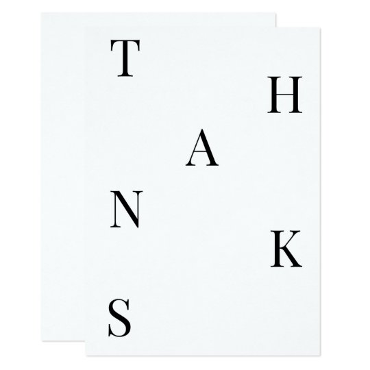 Minimal Thank You Card