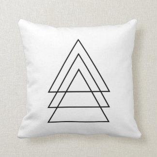 Minimal Trio Of Triangles Cushion