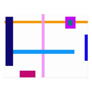 Minimal Vertical and Horizontal Lines Postcard
