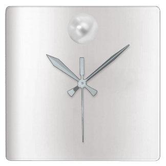 Minimal Vip Gray Silver Pearl Graphite Metallic Wallclocks