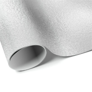 Minimal White Pearly Gray Silver Urban Glass Wrapping Paper