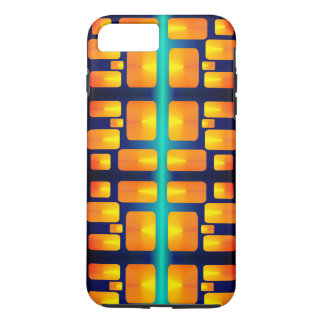 Minimalism Abstract Aqua and Bright Orange iPhone 8 Plus/7 Plus Case