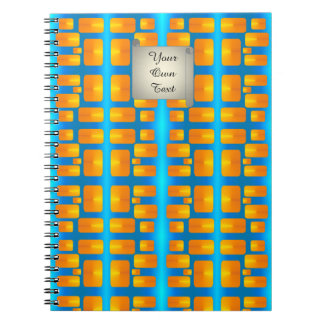Minimalism Abstract Aqua and Bright Orange Spiral Notebook