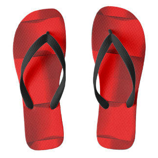 Minimalism Conceptual Abstract Red Black Flip Flops