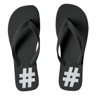 Minimalism Conceptual Ash tag Silver Flip Flops