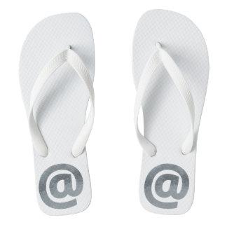 Minimalism Conceptual  E-mail Mark Silver Flip Flops