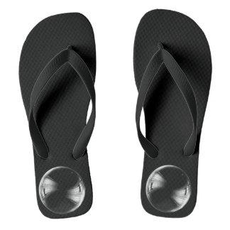 Minimalism Conceptual Funny Soap Bubble Black Flip Flops