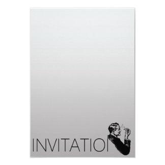 Minimalism Elegant Gentlemen Vip Cigars Man 9 Cm X 13 Cm Invitation Card