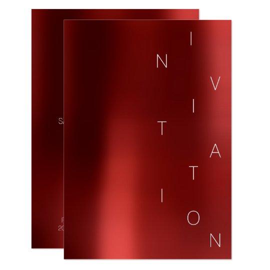 Minimalism Fashion Event Glam Red Wine Rubin Card