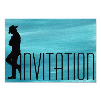 Minimalism Gentlemen Vip Cigars Man Aquarelle 9 Cm X 13 Cm Invitation Card